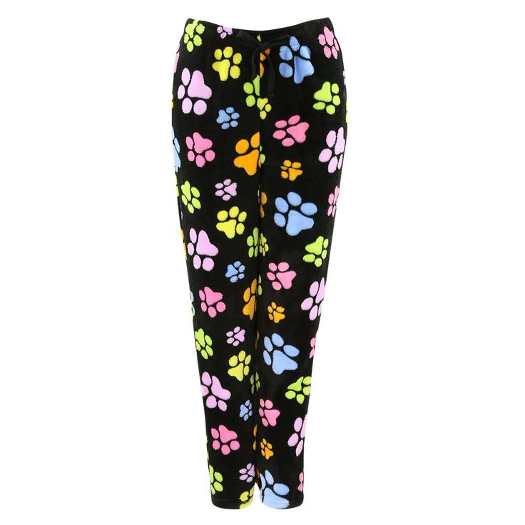 All Over Paws Plush Lounge Pants at The Animal Rescue Site