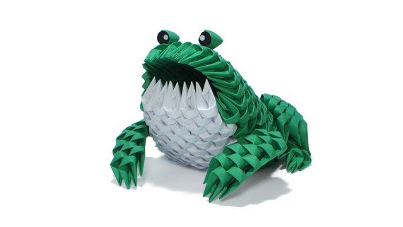 3D Origami Frog by Girnelis on Etsy