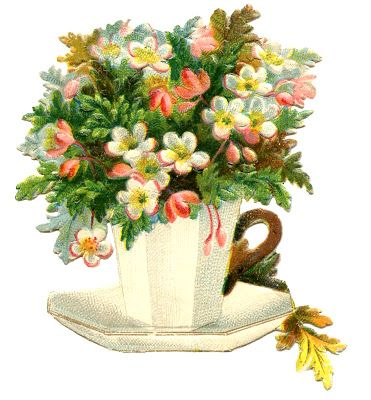 Vintage Teacup Image - Flowers - Mother's Day - The Graphics Fairy