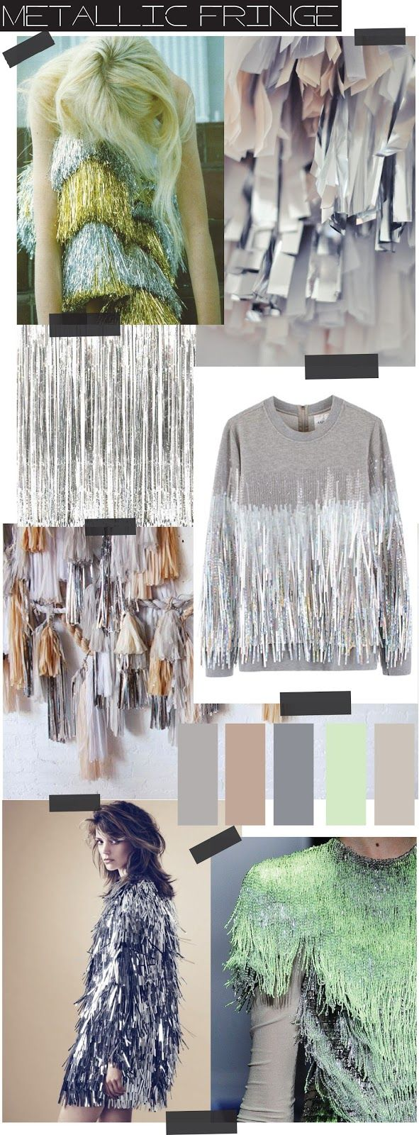 Sources of inspirationsMeadham Kirchhoff pants - Foudre | Fringe Tassle Garland - Camille...