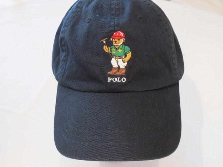 Polo Ralph Lauren Bears Rare Bear Hat Cap Golf Black