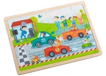 coole houten puzzel 'snelle sportwagens' Haba | kinderen-shop Kleine Zebra