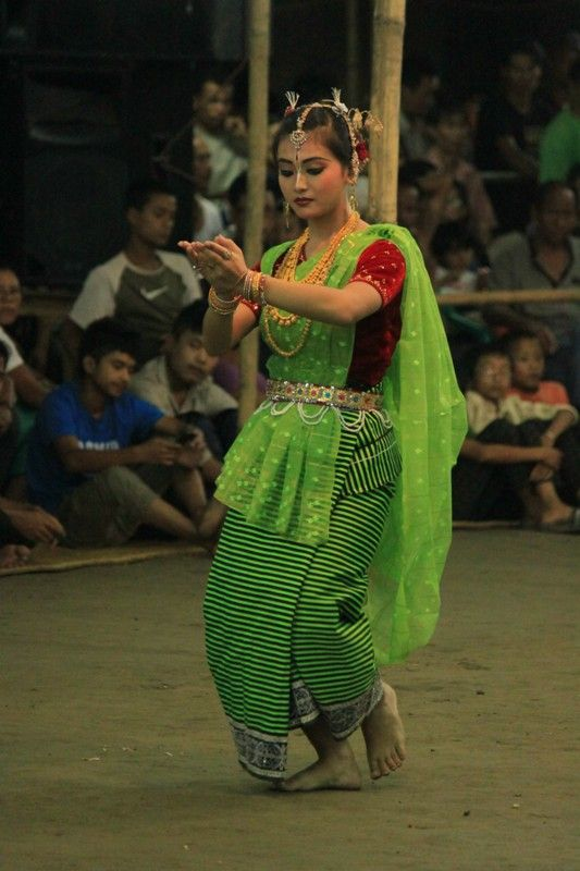 "The ""leima jagoi"" dance of Manipur, India is most acclaimed for its graceful movements"