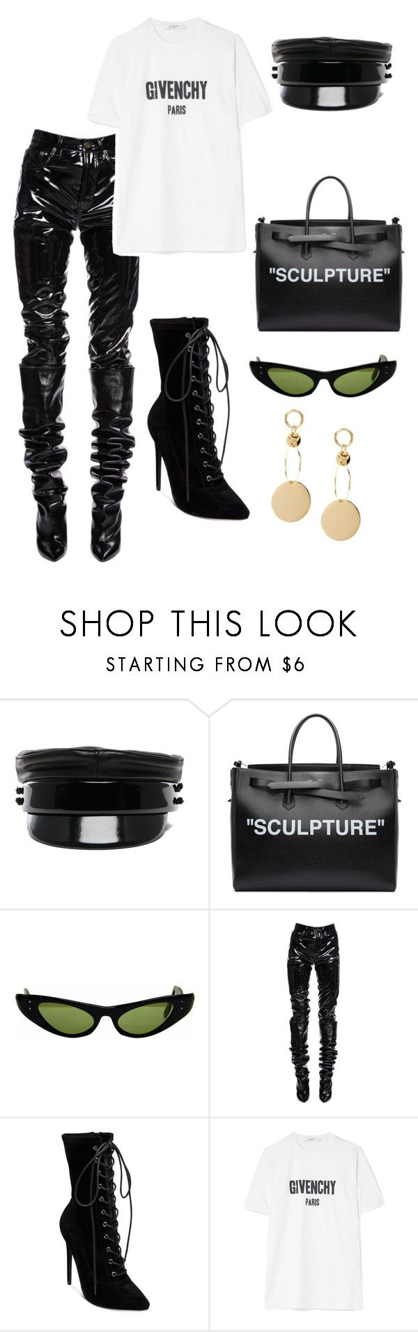"""""""#25"""" by jade-bbaluch ❤ liked on Polyvore featuring Ruslan Baginskiy, Off-White, Ray-Ban, Yves Saint Laurent, Steve Madden and Givenchy"""