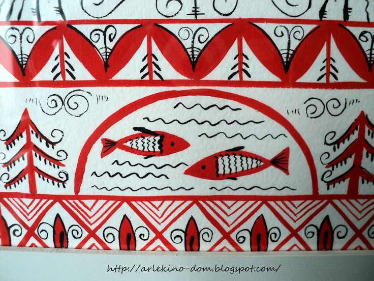 # DekorRe: Панно Мезенская роспись