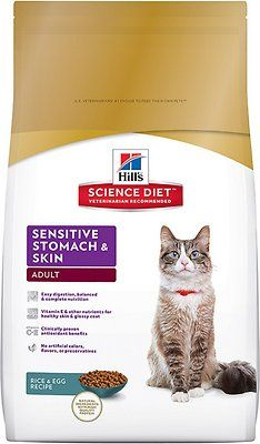 Hill's Science Diet Adult Sensitive Stomach & Skin Dry Cat Food provides precisely balanced nutrition for sensitive digestive systems and to improve skin and coat health.