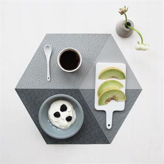 Polygon pöytätabletti 2 kpl - concrete (harmaa) - By May