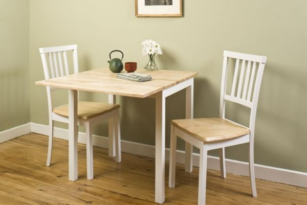 Small Spaces Dining Room Set 3 Piece Dining Set With Drop Leaf Dining