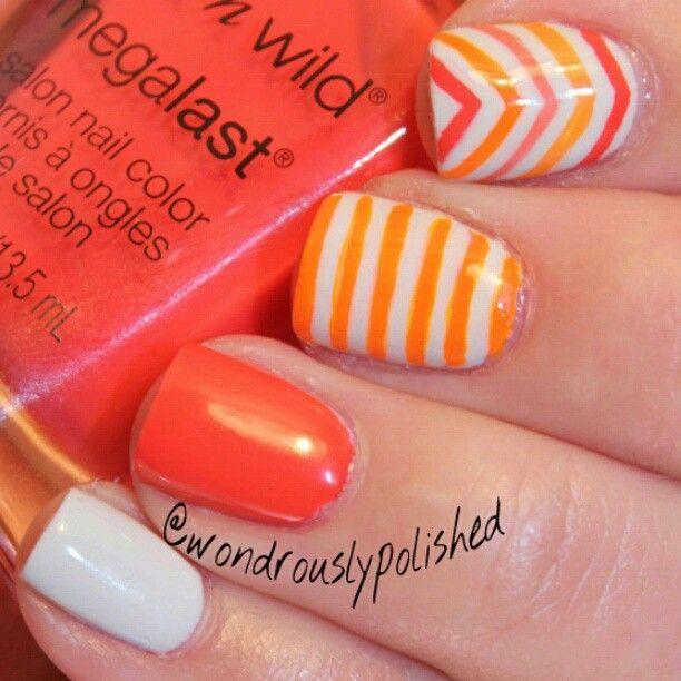 102 best Manis 2 try - Stripes images on Pinterest | Nail art ...