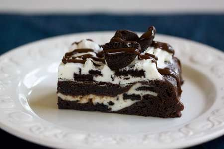 oreo double stack brownie