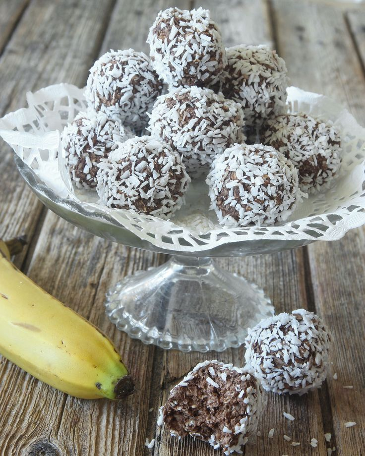 Nyttiga bananchokladbollar – Lindas Bakskola