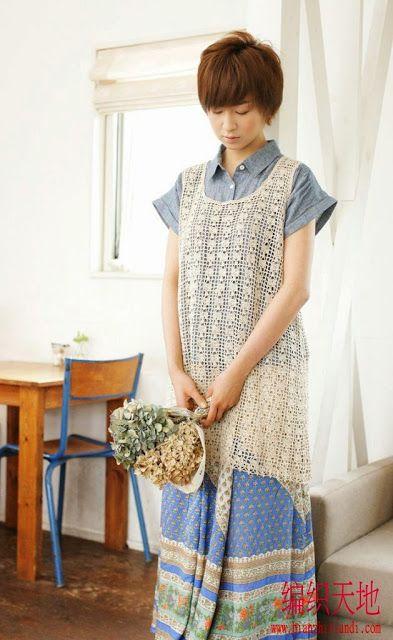 Crochet 4-Bluzki,tuniki - Danuta Zawadzka - Веб-альбомы Picasa