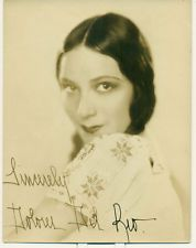 DOLORES DEL RIO Silent Movie Star Orig 1920js 6x8 Fan Photo Signed
