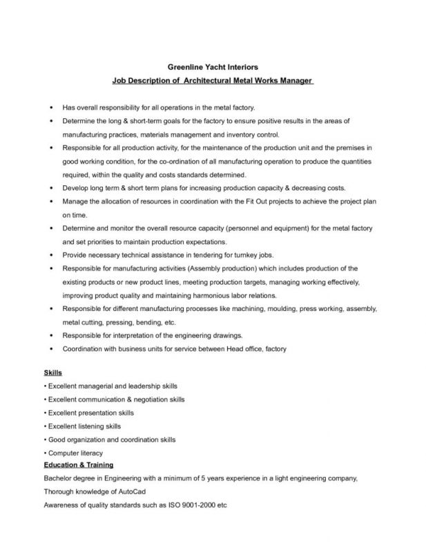 Sample Resume For Assembly Line Worker Awesome Professional - line worker sample resume