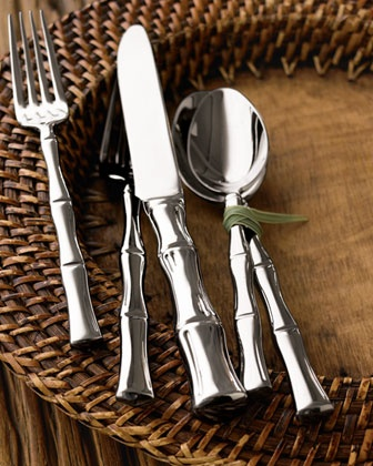 "45-Piece ""Bamboo"" Flatware at Horchow.  This is my stainless pattern!!"