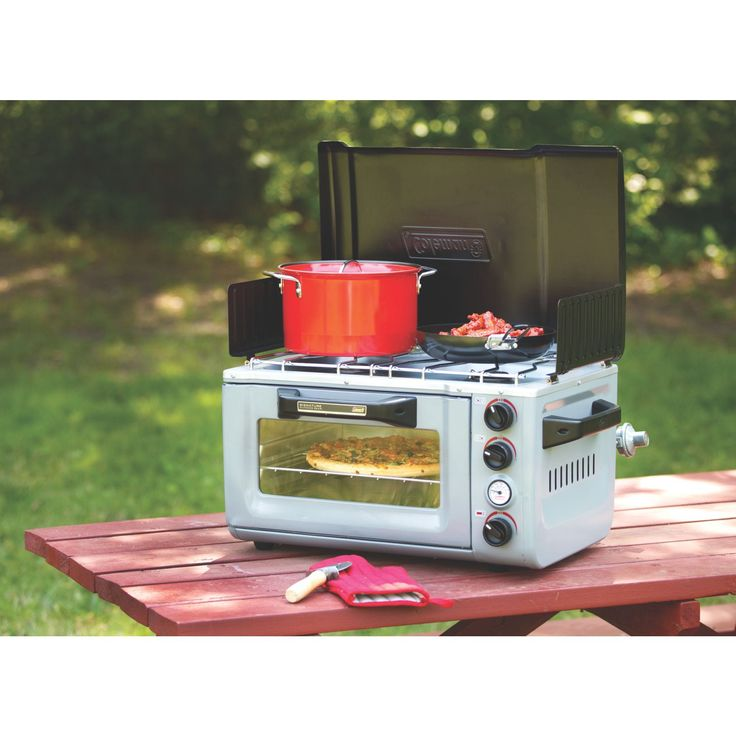 Coleman Portable Stove Oven Combo From portable pizza ovens that churn out authentic pies to a tiny grill topping out at over 1,000 degrees, these are the outdoor cooking gadgets you need this summer.