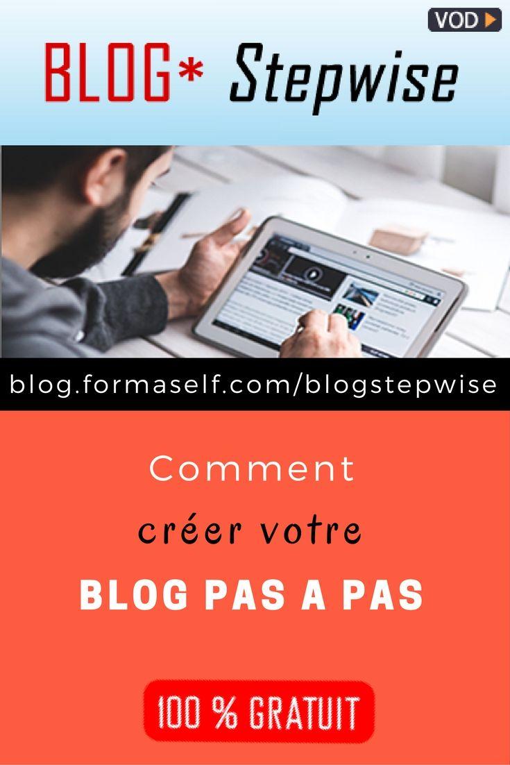Formation en ligne gratuite BLOG * Stepwise pour apprendre à créer pas à pas un blog perso ou pro en 1 jour, sans programmer. Sans vous déplacer, 12 vidéos incluses.