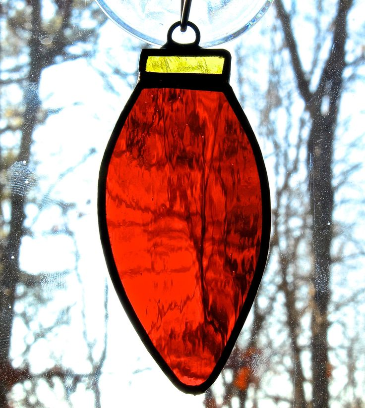 Stained Glass Light Ornaments by ForgingAheadMetal on Etsy