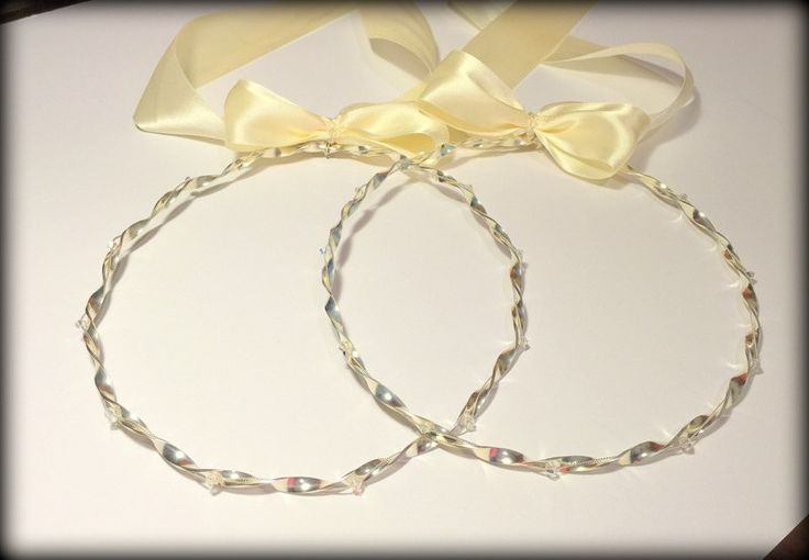 Wedding Crowns.Stefana.Swarovski Crystal Headband.Orthodox Crowns.Wedding Headband.Silver Plated.Stephana.Wedding Headpiece by RaniaCreations on Etsy