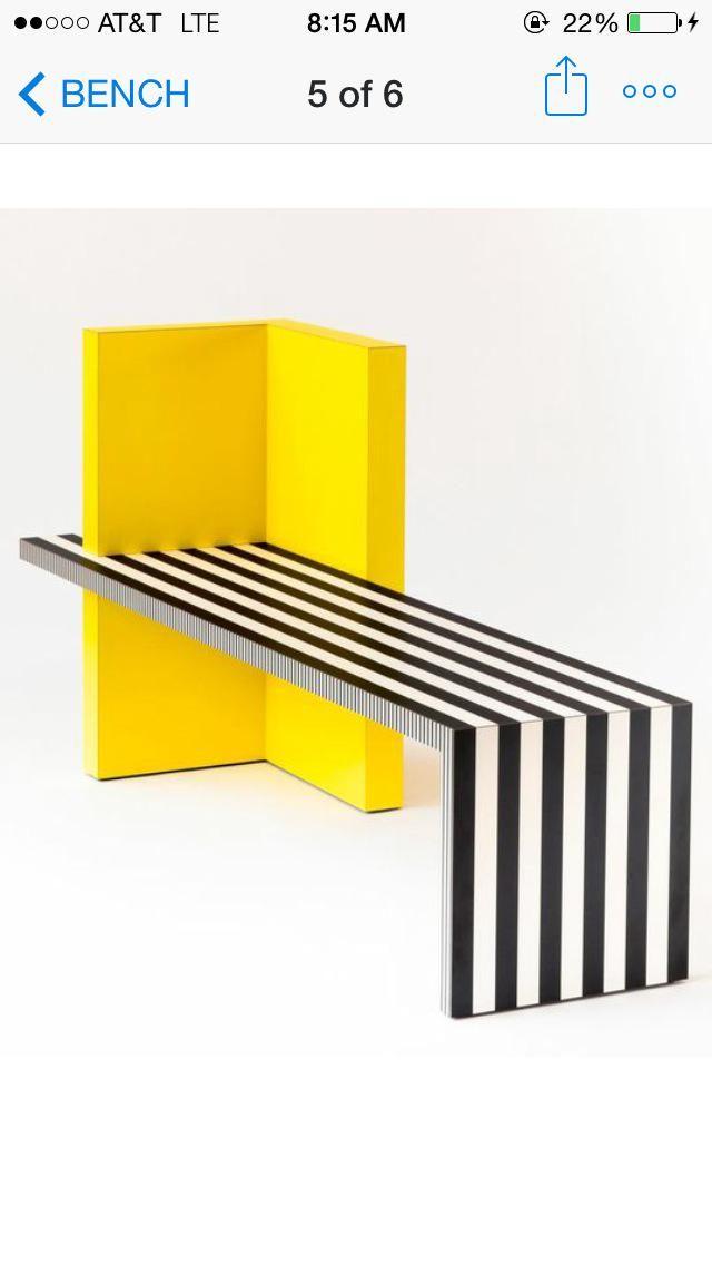 Neo Laminati Bench No. 84 A collection designed by interior designer, @kellybehunstudio Memphis group inspired