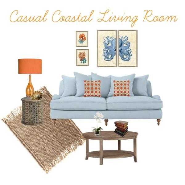 Casual Coastal Living Room