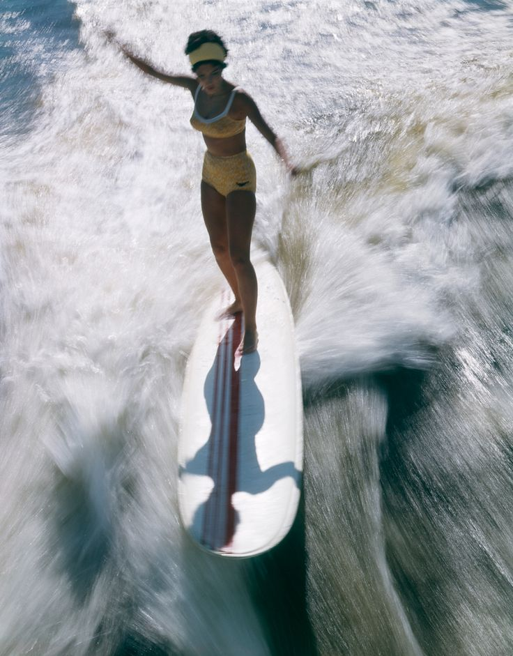Vintage surfer girl from above. Source: 6 vintage surfing photos - The Week