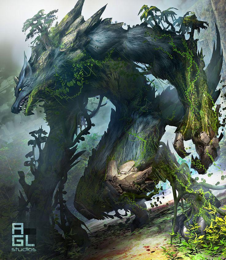 Oniric Realms — cyrail:   Wolf Kaiju by dinmoney  Featured on...