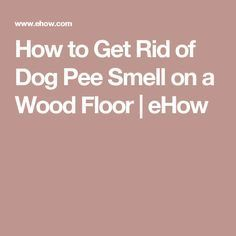 How to Get Rid of Dog Pee Smell on a Wood Floor | eHow