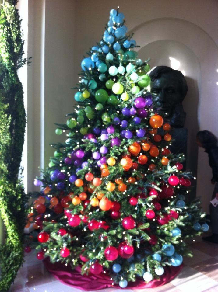 Christmas trees pinterest christmas tree at the white for White christmas tree pinterest