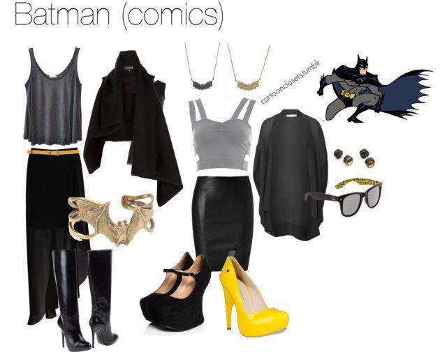 How to dress like a fashionable, feminine Batman. Finally a fashion statement I can get on board with.