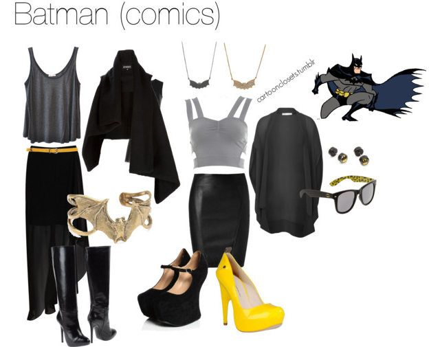 How to dress like a fashionable, feminine Batman. Finally a fashion statement I can get on board with.