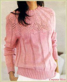 Как вязать ажурную кокетку спицами на пуловерах - идеи,описание и много схем