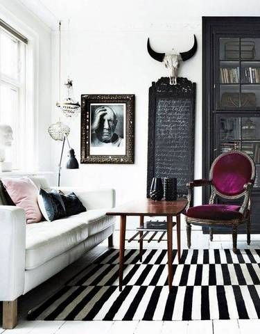 38 best Black and White Home Decor images on Pinterest | Apartments Black And White House Interior Design on all black and white interior design, modern minimalist house design, black interior designers, dark interior design, ceiling lighting interior design, modern hotel bar and lounge interior design, nordic interior design,
