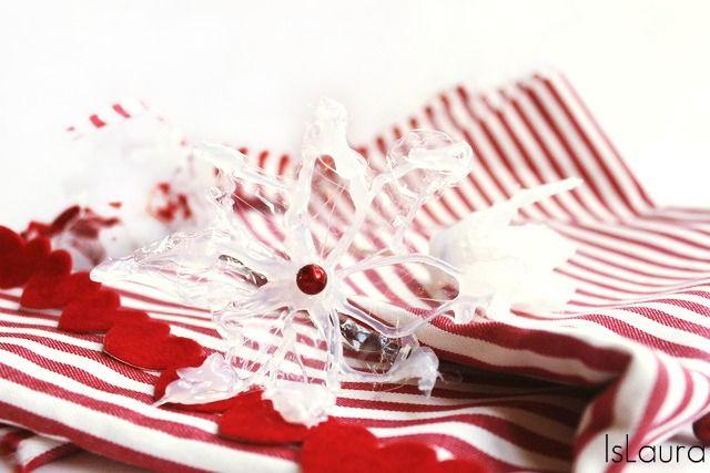 Fiori di ghiaccio per Natale con colla a caldo : islaura