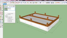 Upholstered Box Spring; they added support which I would do as well, but instead will put 3 beams across width-wise with legs at 4 corners & for full will add 5th leg on center beam; for queen, add 5/6 on center beam.  the little pieces that go across the head and foot on these plans don't support anything...