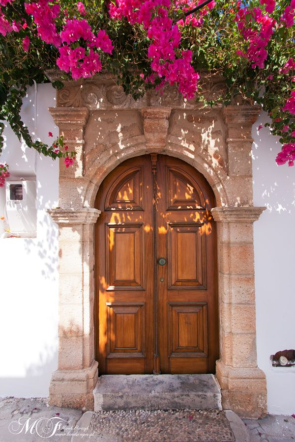 Old door in Lindos, Rhodes Greece