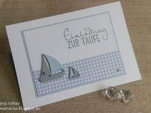 """Einladung zur Taufe """"Boot"""""""