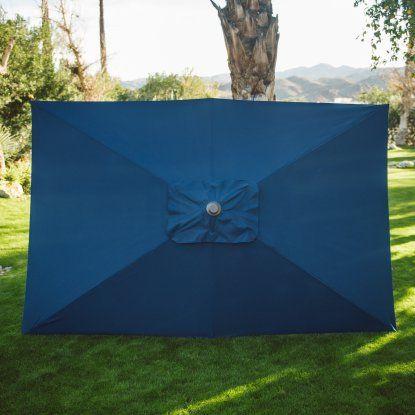 Belham Living 6.2 x 9.6 ft. Rectangular Patio Umbrella | Hayneedle