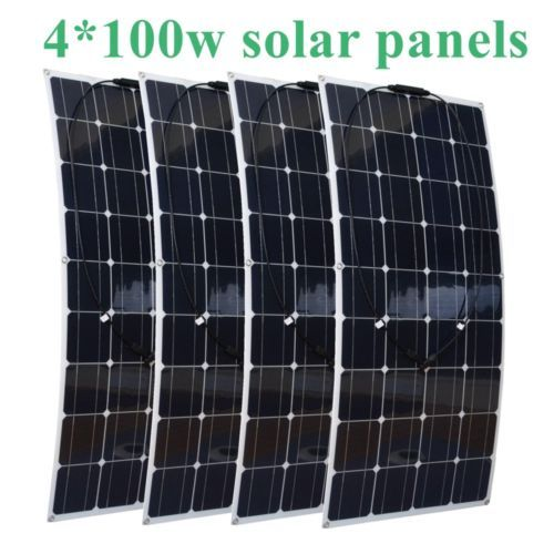 4x100w Flexible Solar Panels Module House Use Solar Power System Flexible Solar Panels Solar Panels Solar Power System