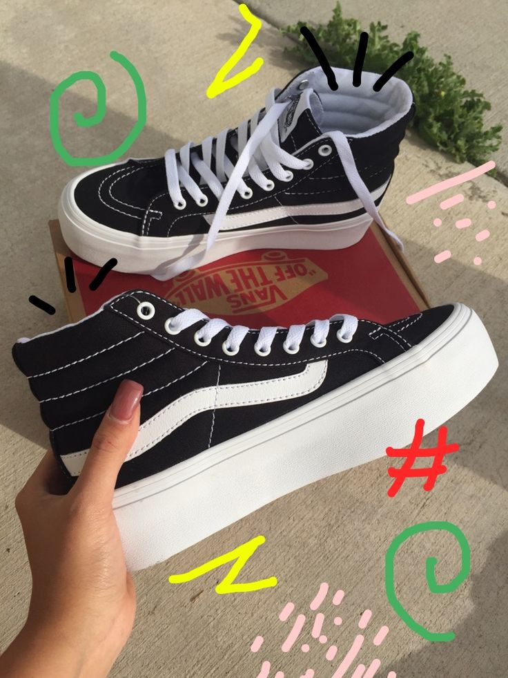 Pinterest::: sidvicious  Loving my new VANS sk8 hi platforms ❤️