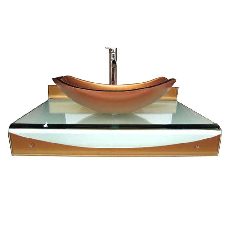 Kokols WF-24 31-in Wall Mount Vessel Bathroom Vanity with Sink Combo Set at ATG Stores