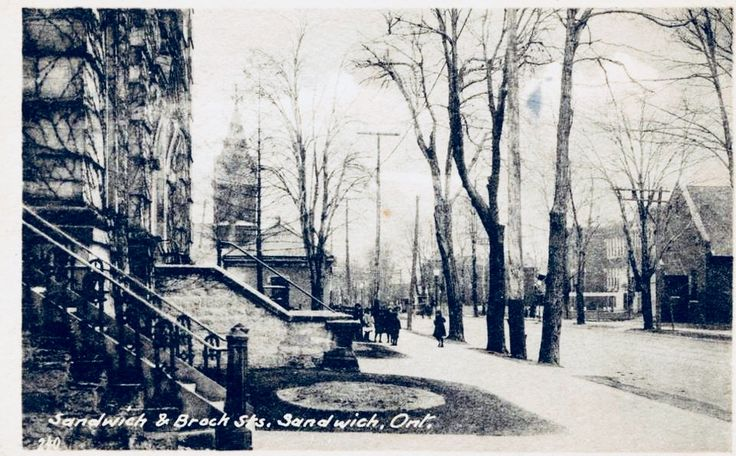Sandwich Street (formerly Bedford St) looking south towards Brock St from the Municipal Court House