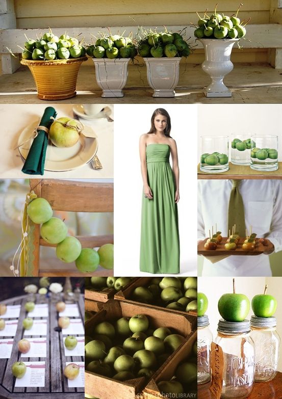 Green Apple Wedding Ideas - Moody Monday - The Wedding Community Blog