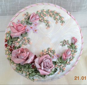 I ❤ ribbonwork . . . ribbon roses ~By Ludmila Andreeva, Lavanda55