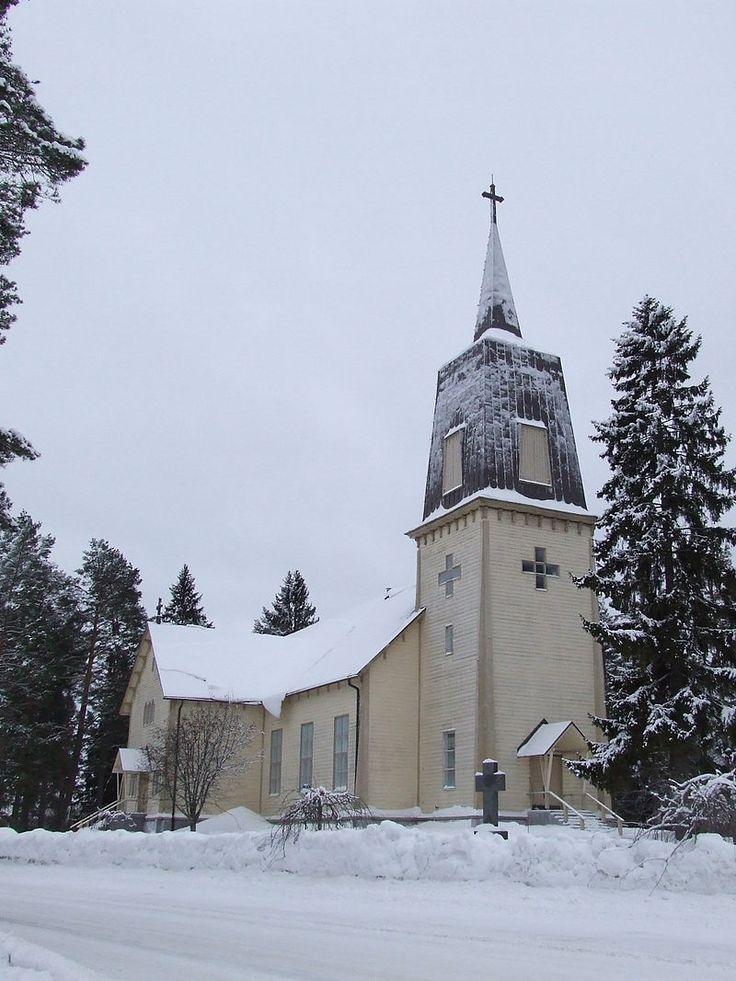 Polvijärvi Church, January 2015 - Polvijärvi – Wikipedia