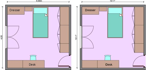 Kids Bedroom Dimensions Child S Room Measurements