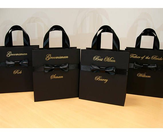 Personalized man gift ideas Elegant Groomsmen Gift bags with