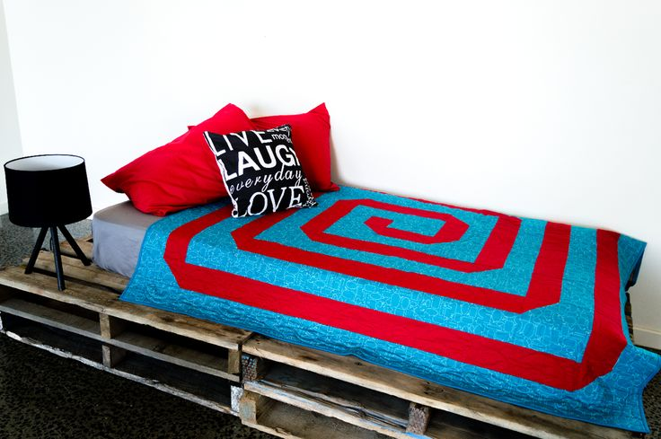 Spiral Pre Cut Quilt Kit - Available in Throw Size and up to King Bed Size