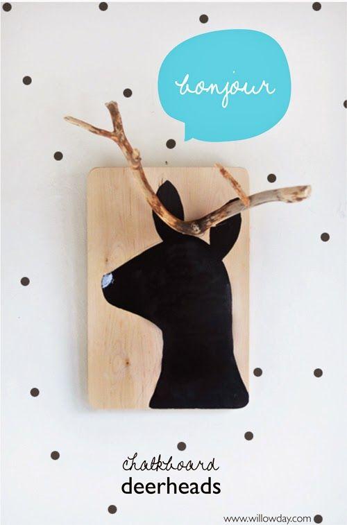 Applique Bois Flotte Pas Cher : Kids Craft Deer Head