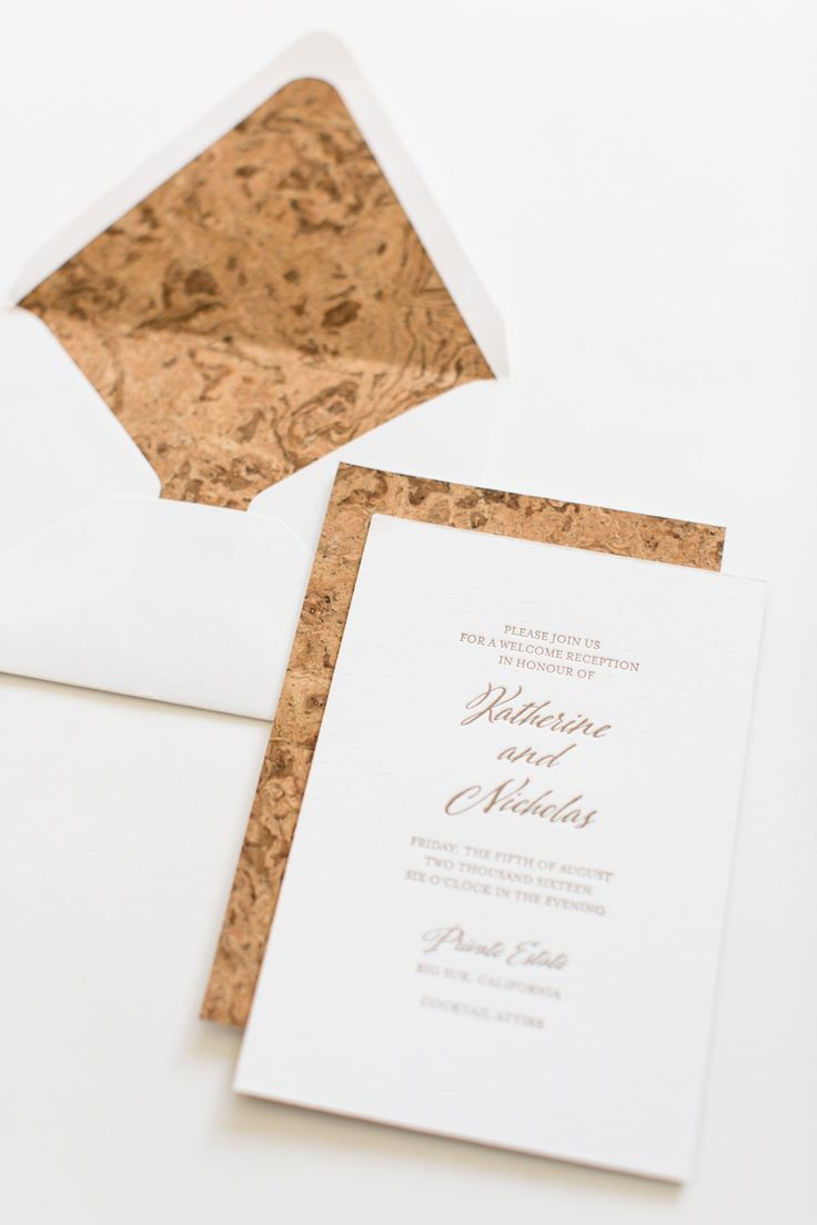Yonder Design | Custom Event Design, Wedding Inspiration, Custom Invitations, Unique Invitation, Letterpress, Graphic Design, Big Sur, Modern Wedding, Elegant, Simple, Luxury Wedding, Luxury Invitation, Linen Pocket, Invitation Suite, Cork, Romantic, Cork Liner